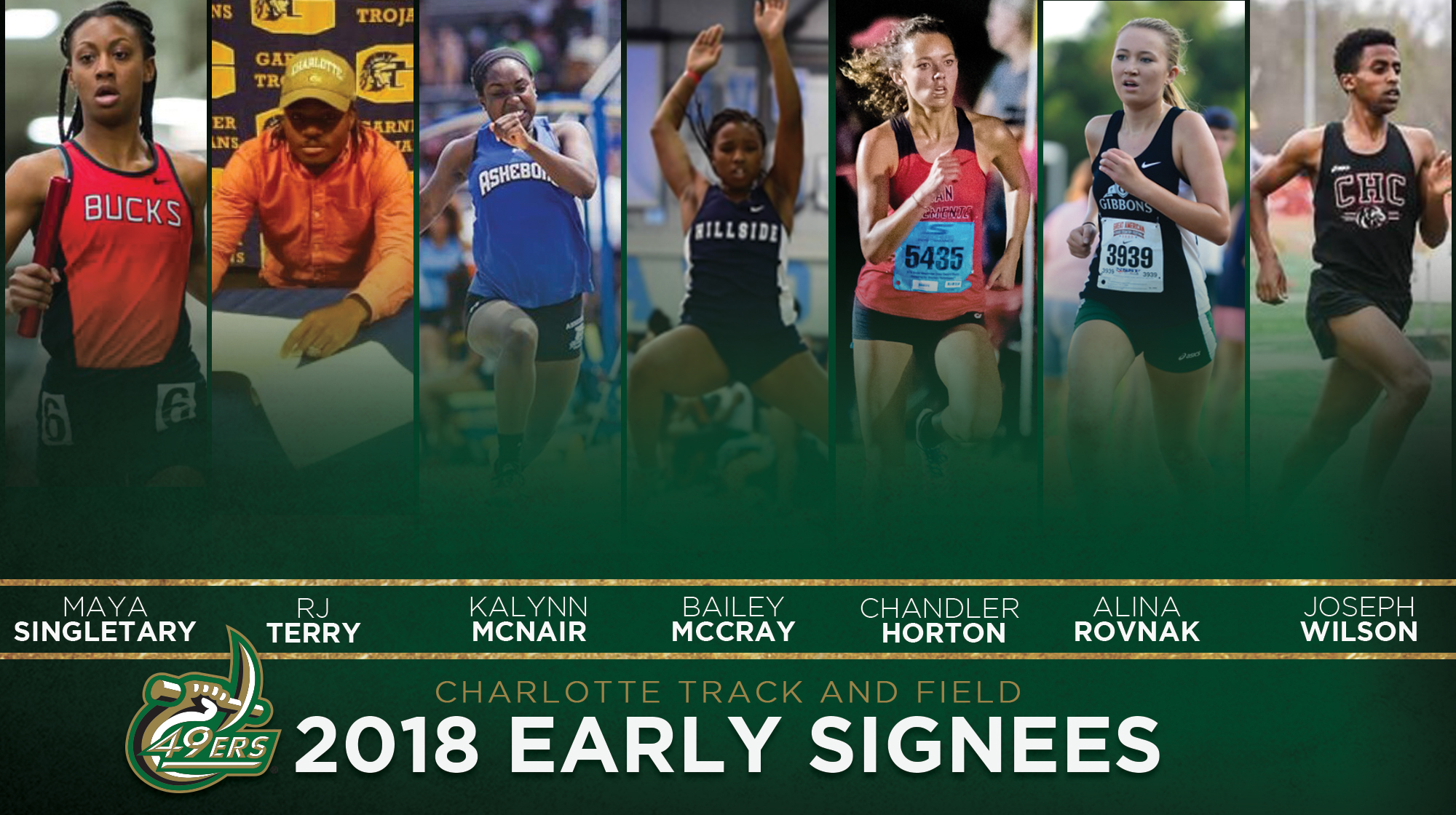 Track & Field inks seven athletes during early signing period - Charlotte