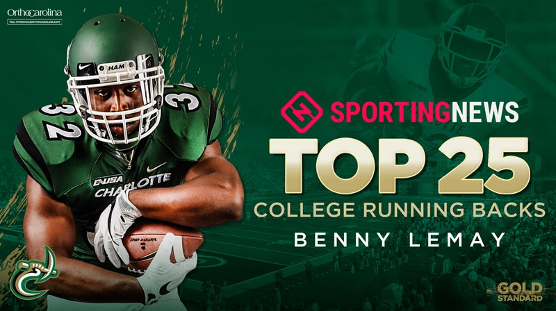LeMay Among Sporting News Top RBs - Charlotte Athletics