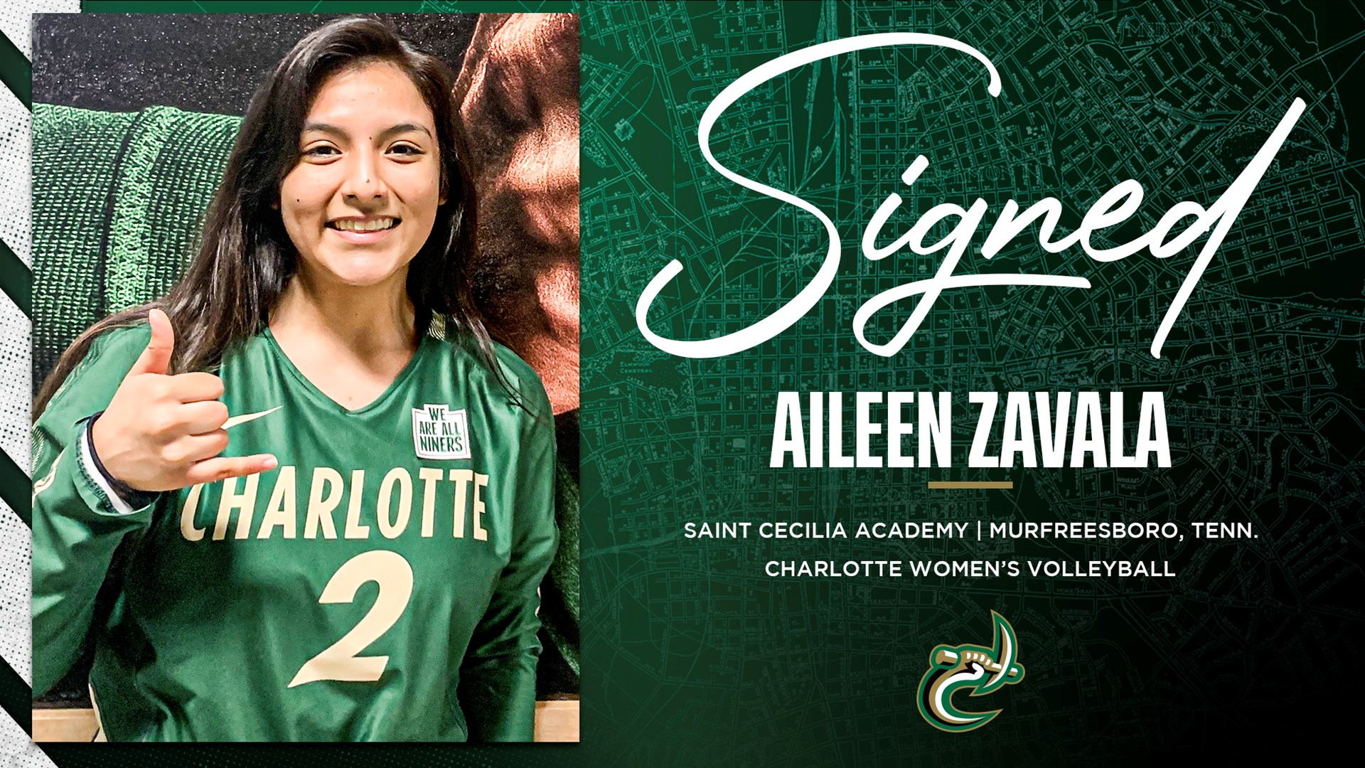 Volleyball Welcomes Aileen Zavala To 2020 Roster Charlotte Athletics